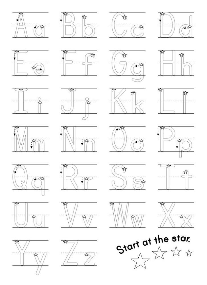 free alphabet worksheets write