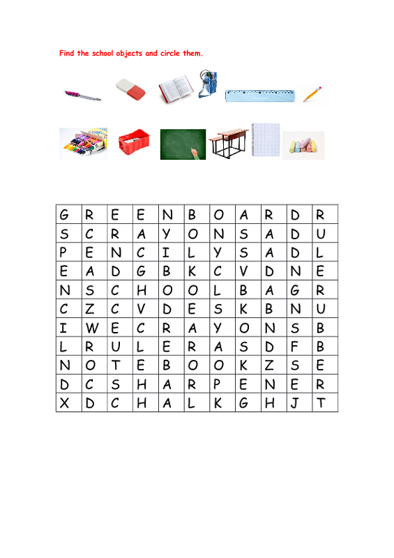 free puzzle worksheets school