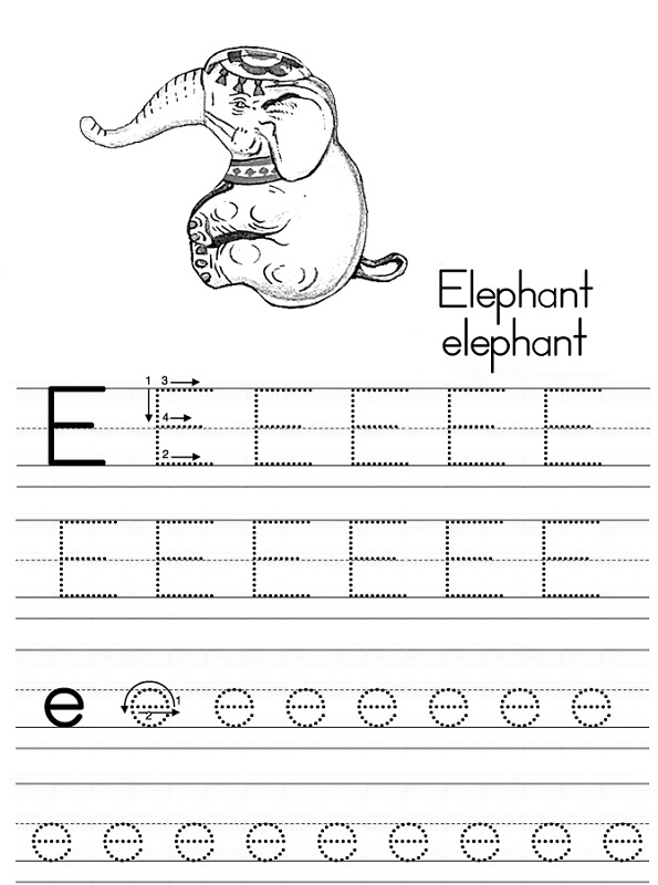 free traceable alphabet elephant