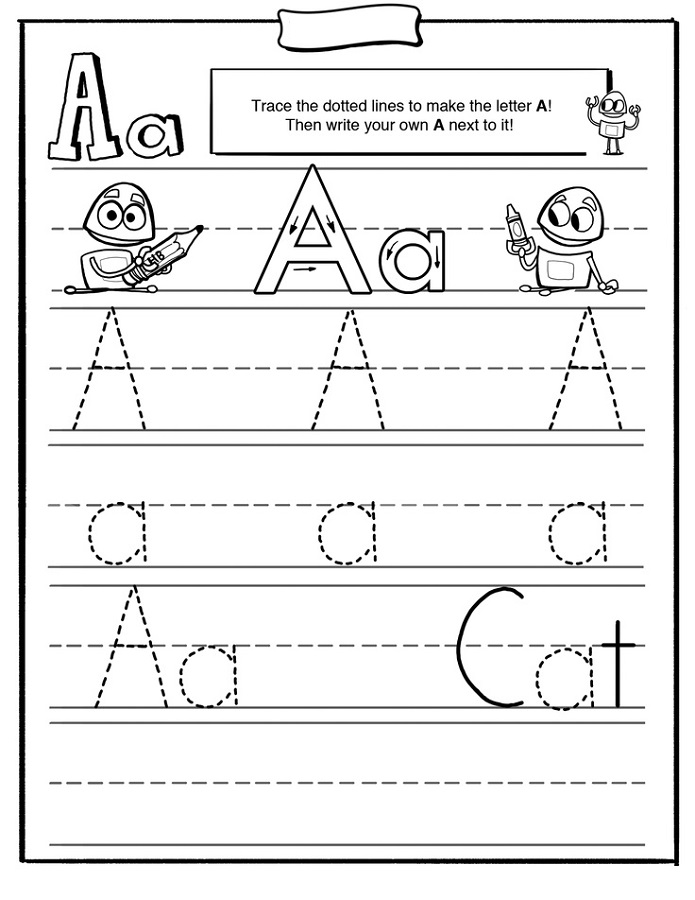 free traceable alphabet preschool