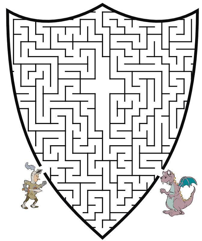 medieval activities for kids maze