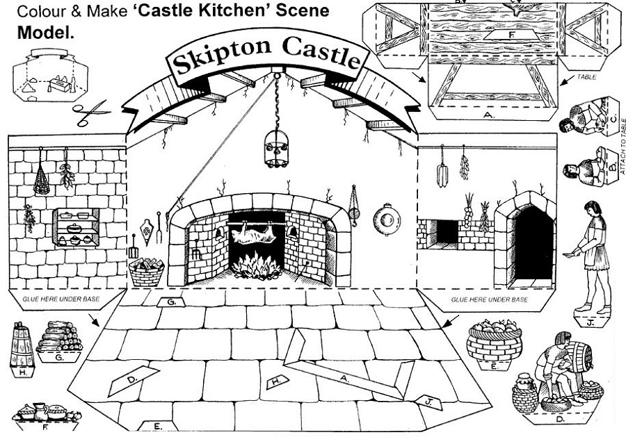 medieval activities for kids printable
