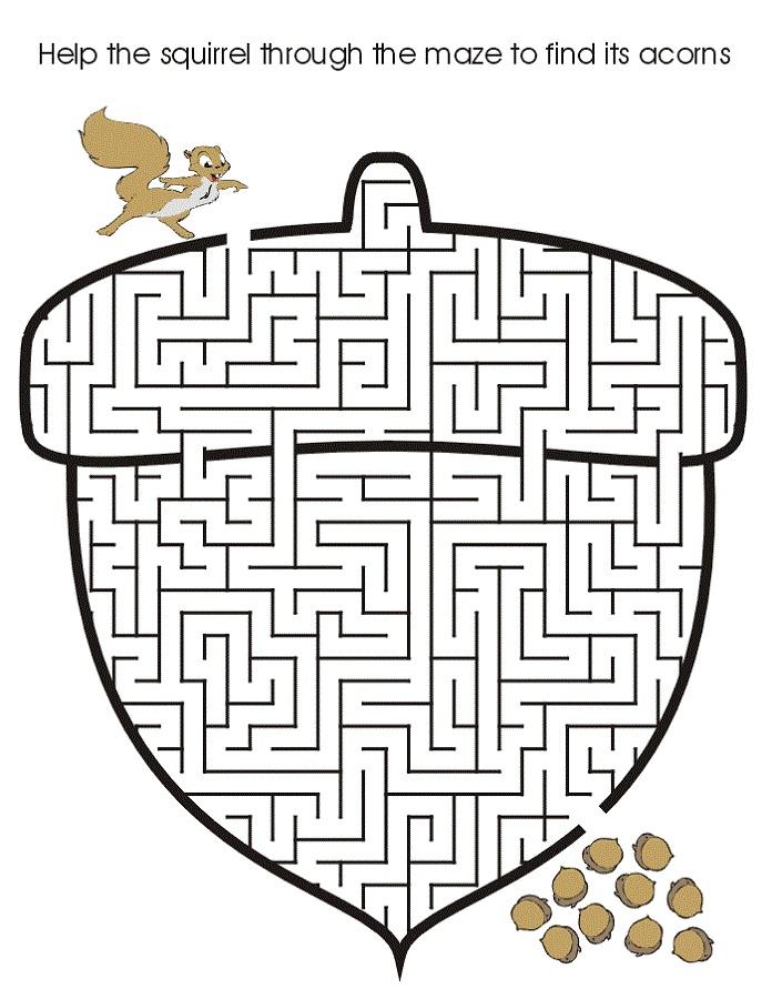 puzzle activities for kids acorn