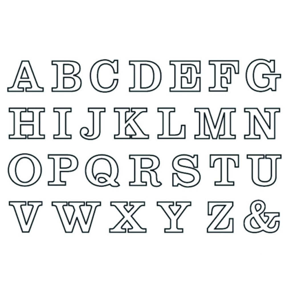 upper case alphabet clear