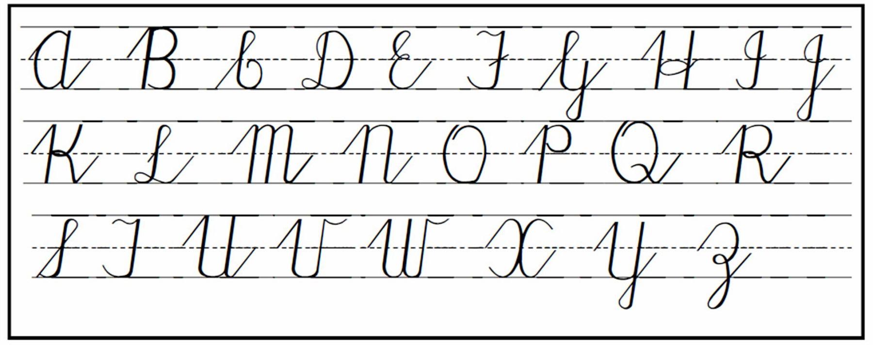 upper case alphabet cursive