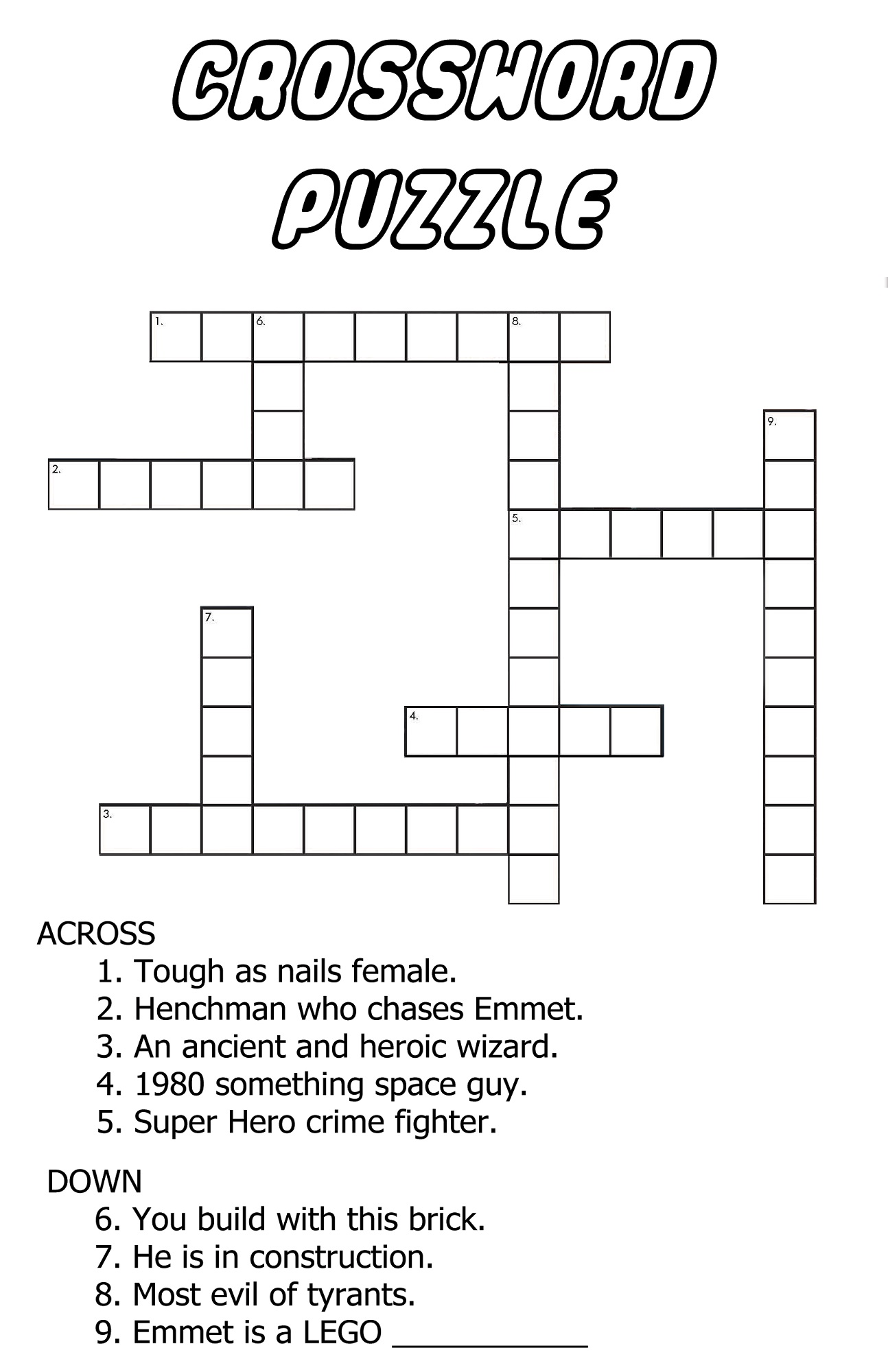 very easy crossword puzzles free