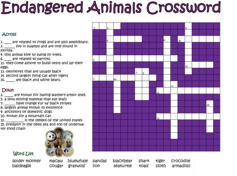 Very Easy Crossword Puzzles Printable