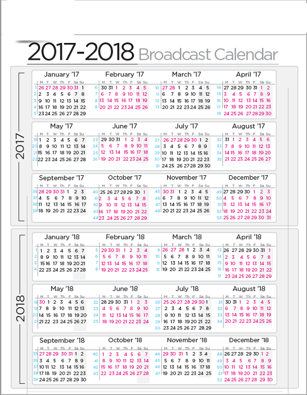 2017-2018 printable calendar simple