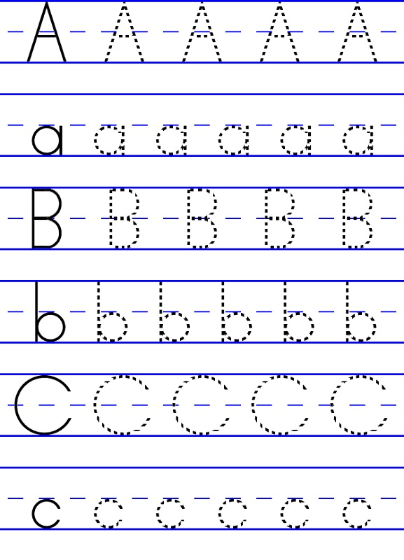 alphabet tracing abc