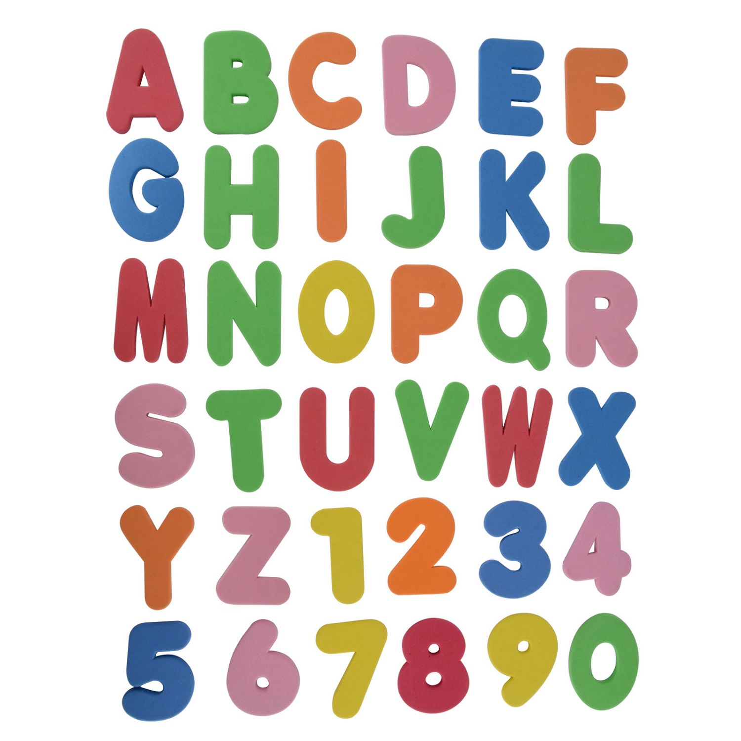 letters and numbers for kids chart