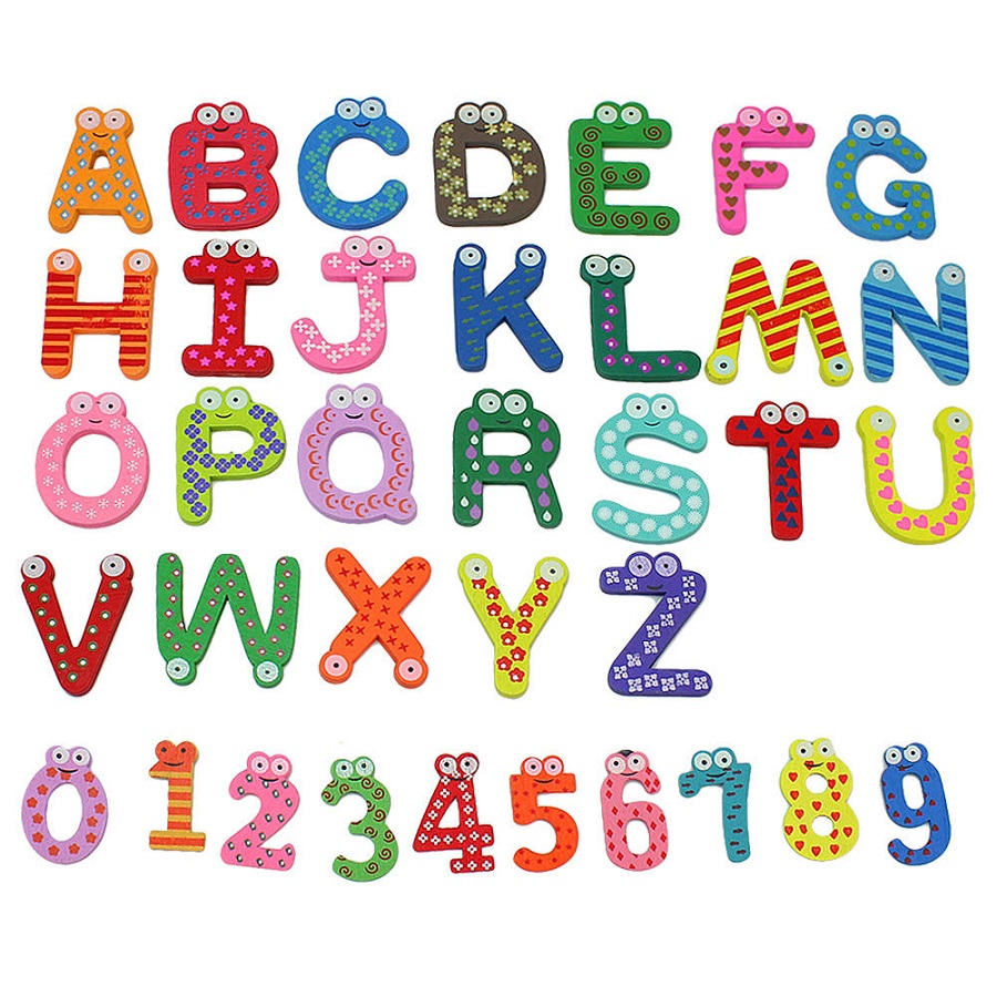 Letters and numbers for kids activity shelter - Lettres alphabet originales ...