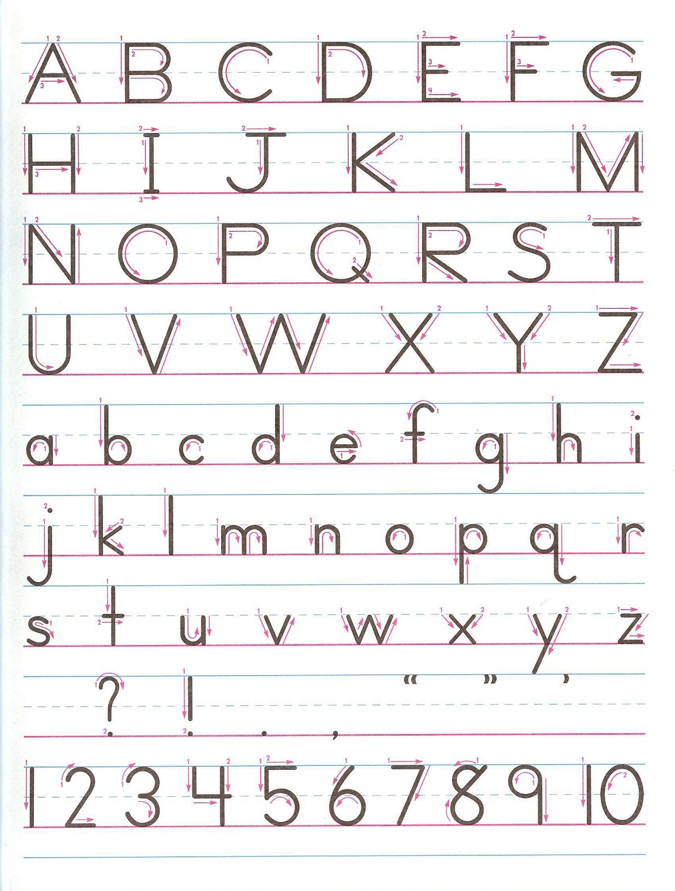 letters and numbers for kids printable