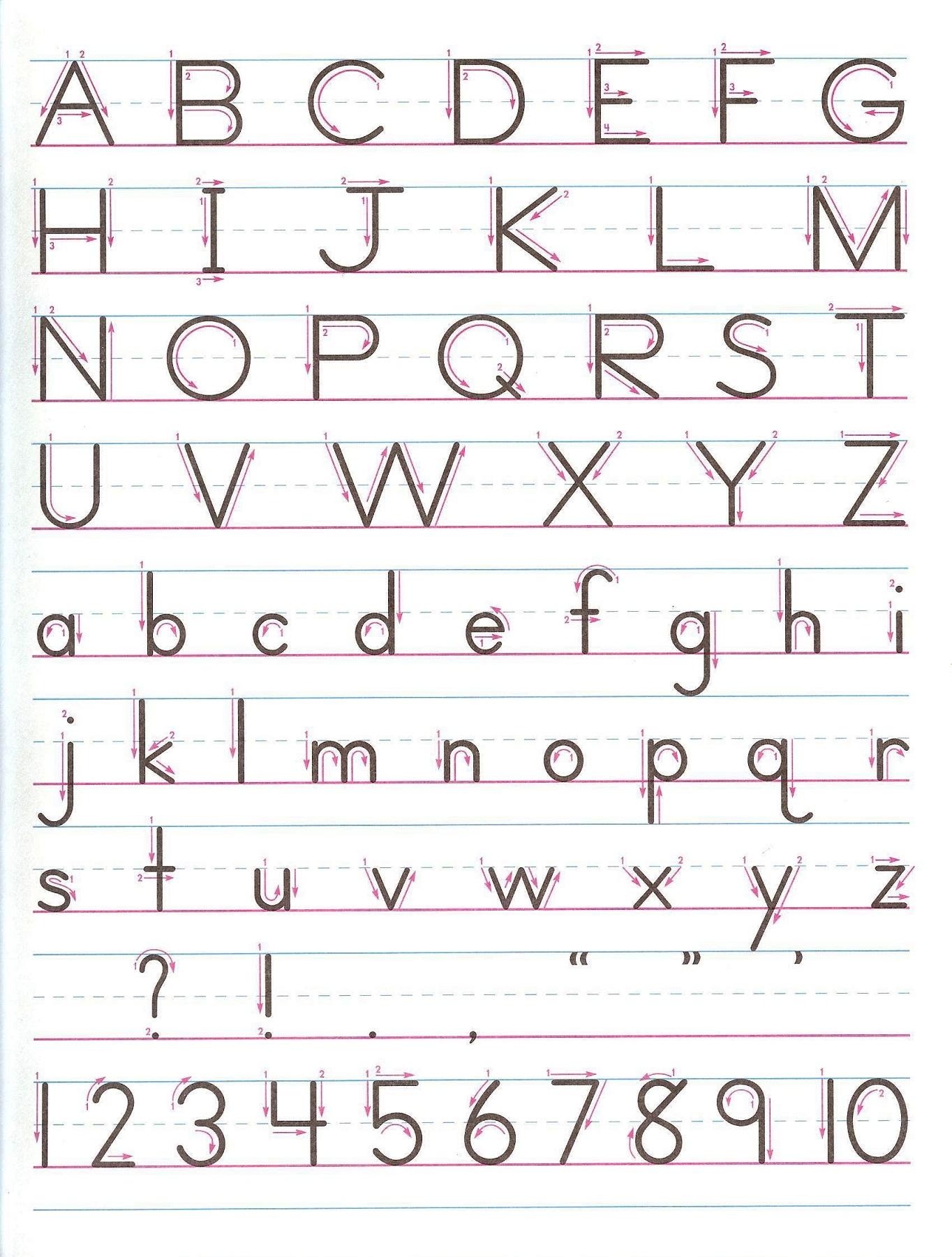 Alphabets Writing