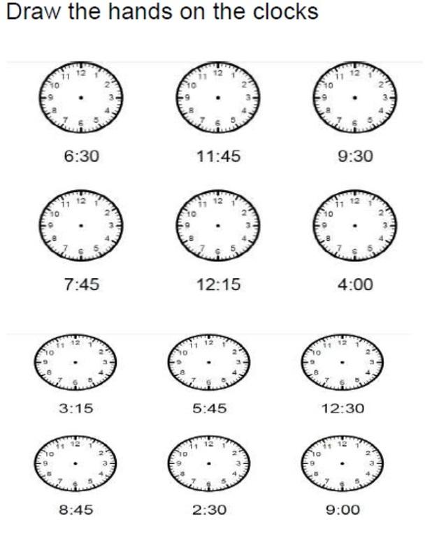 time elapsed worksheet draw