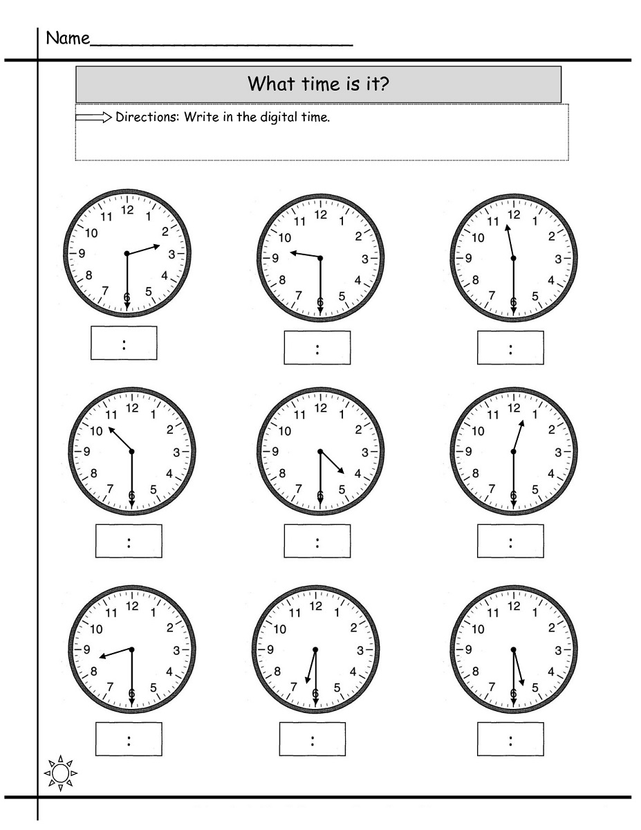 time elapsed worksheet printable