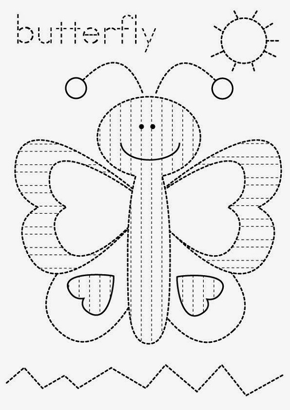 two year old worksheets butterfly