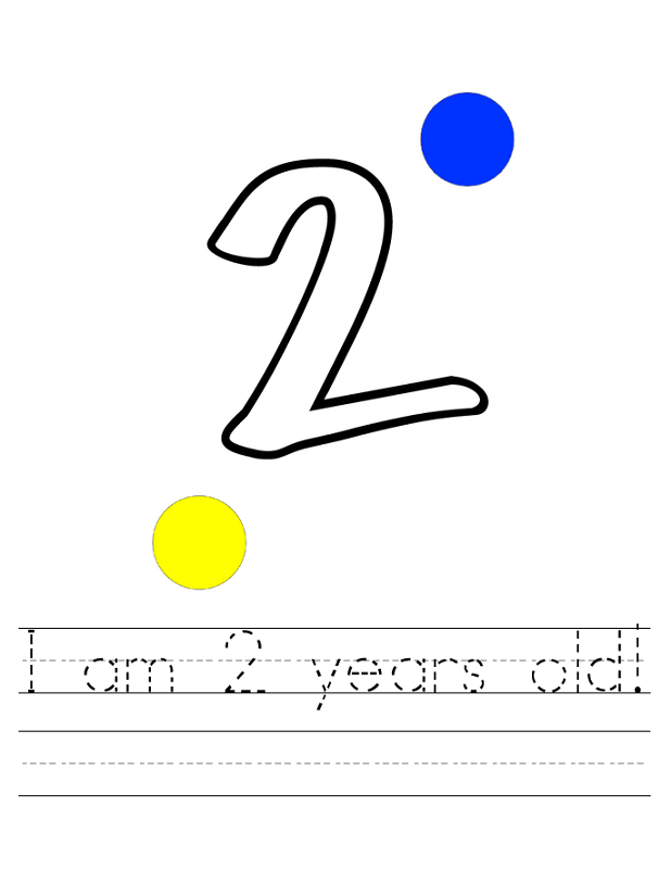 two year old worksheets free