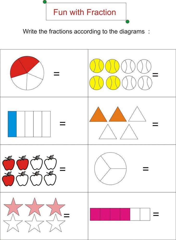 work sheet fun fraction