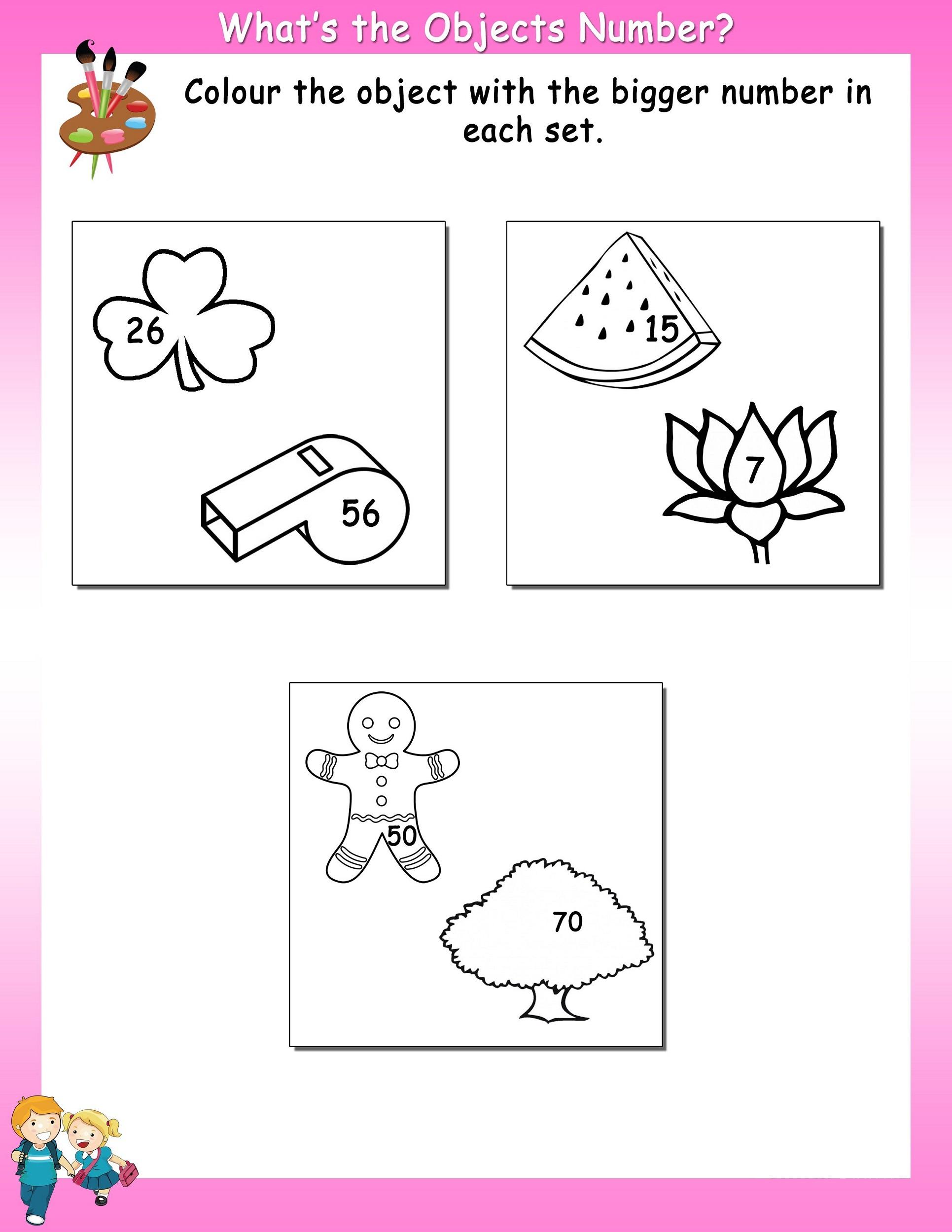 work sheet fun object
