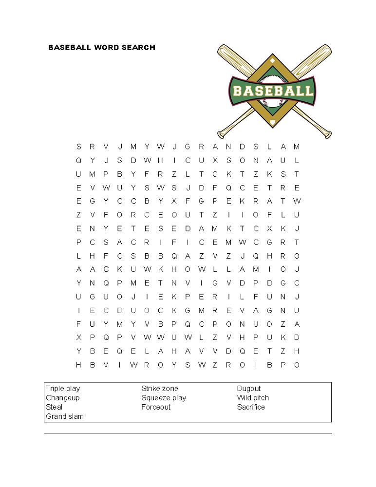 baseball word games hard