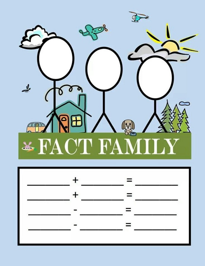 Fact Family Triangle Worksheets Activity Shelter