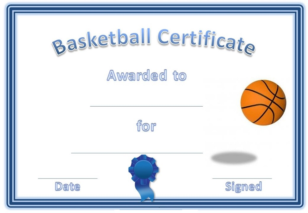 free basketball certificates templates activity shelter