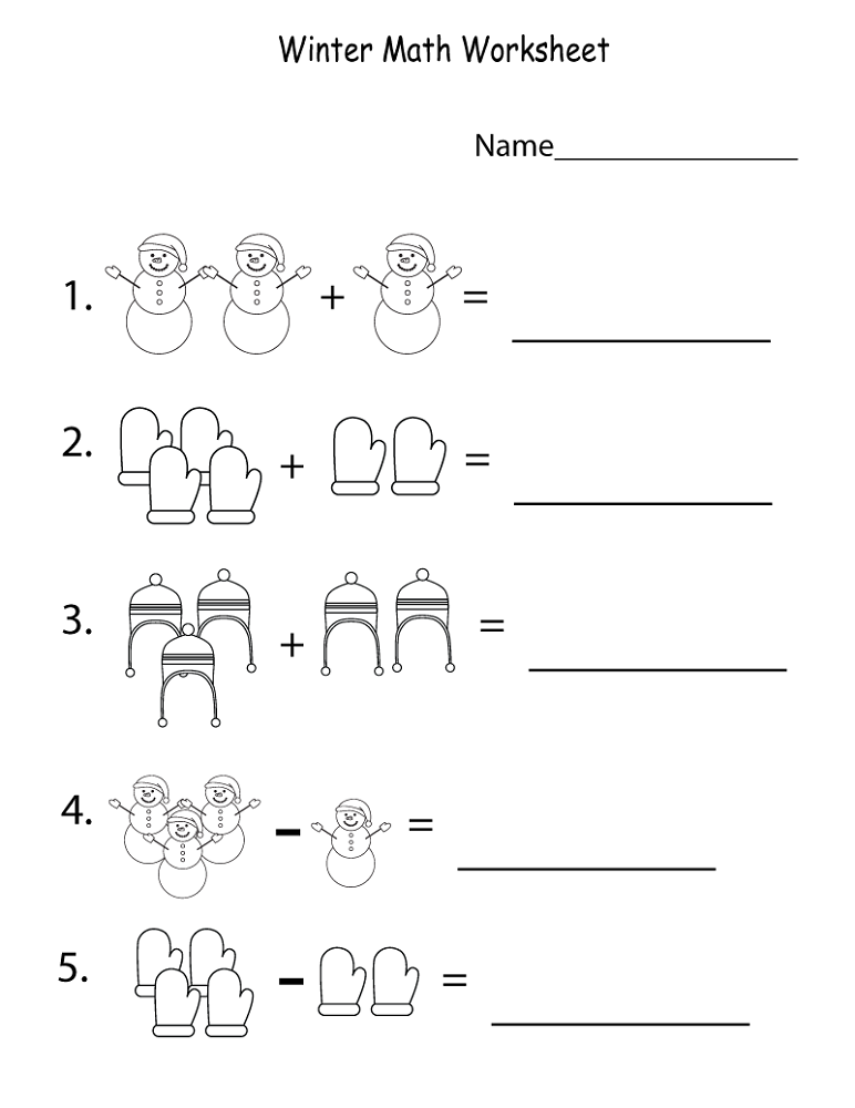 free math worksheets 1st grade