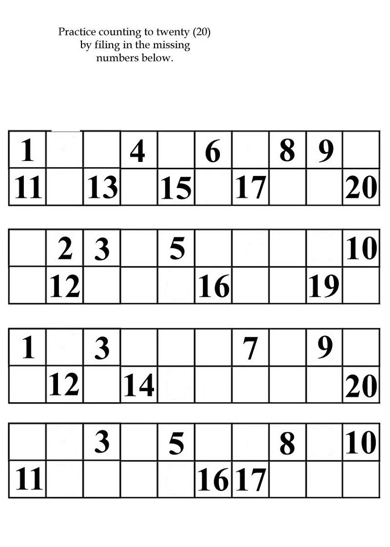 free printable kindergarten number worksheets easy
