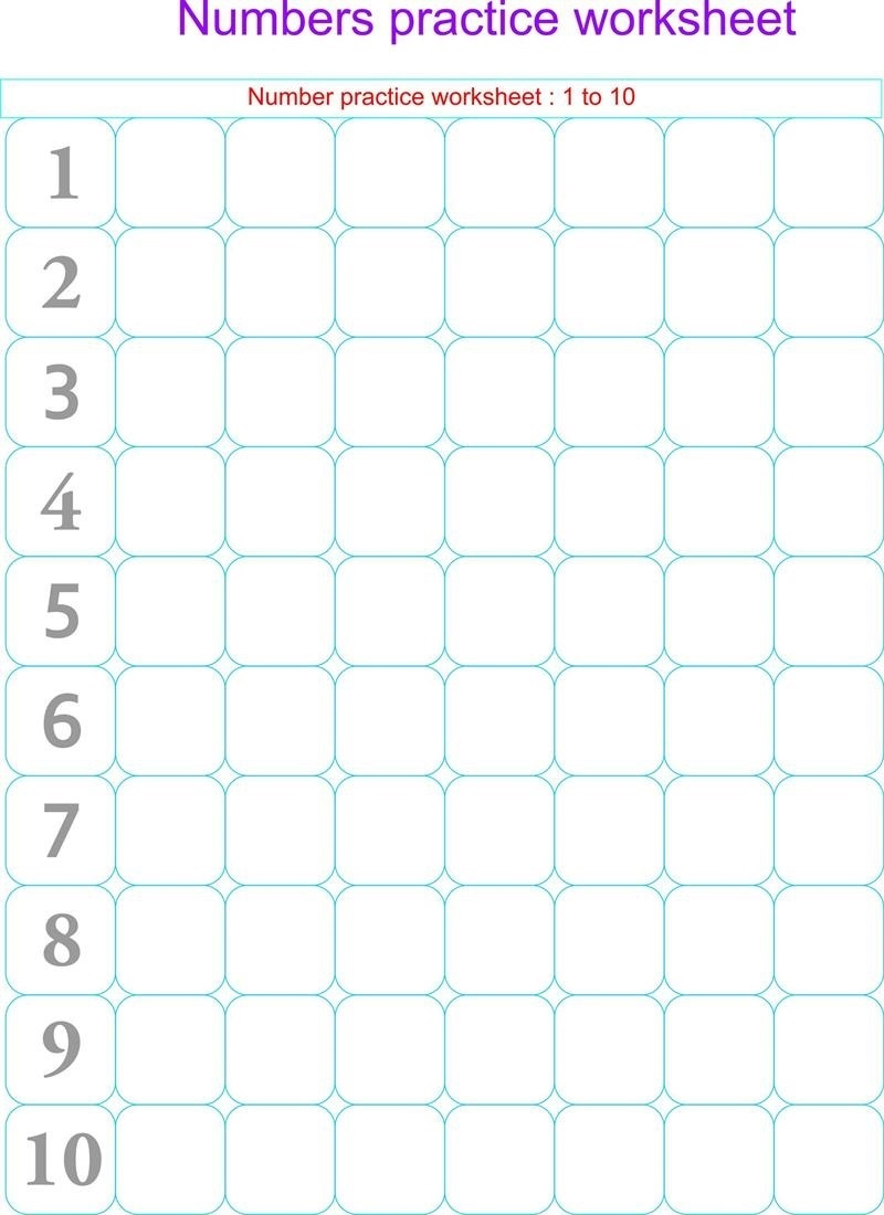 free printable kindergarten number worksheets page