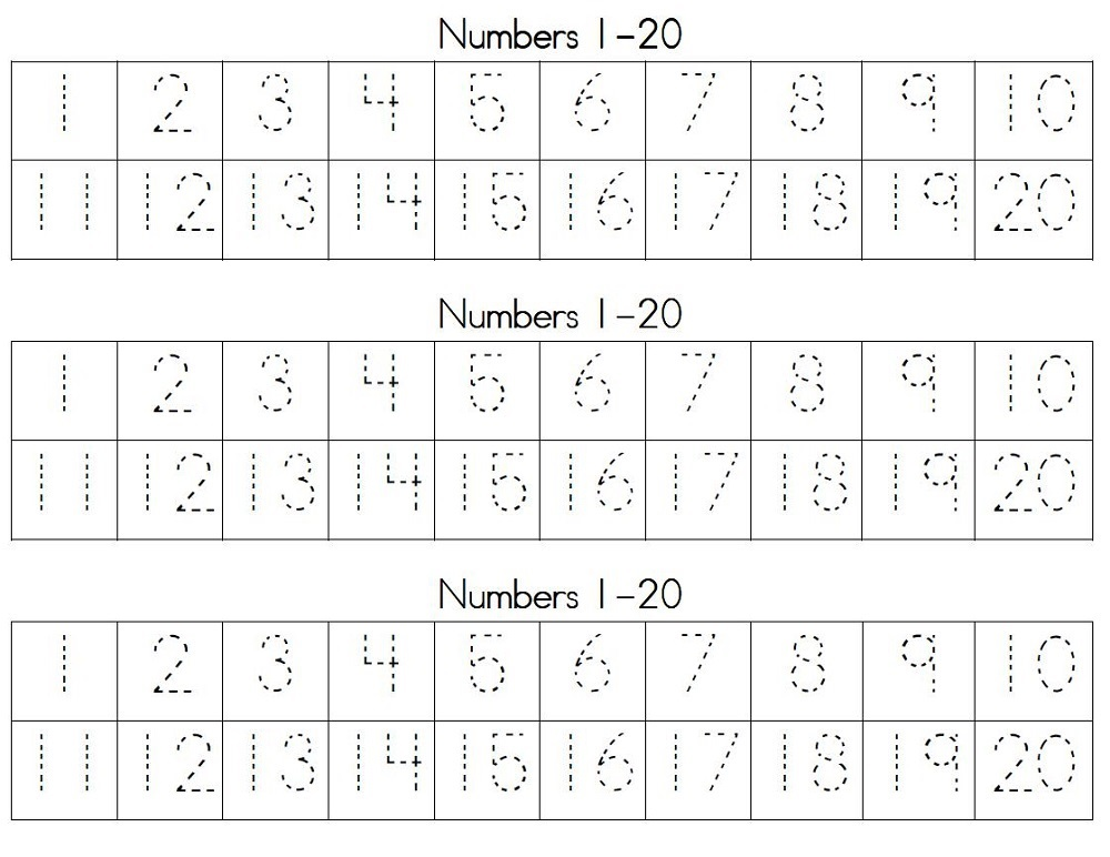 free printable kindergarten number worksheets tracing