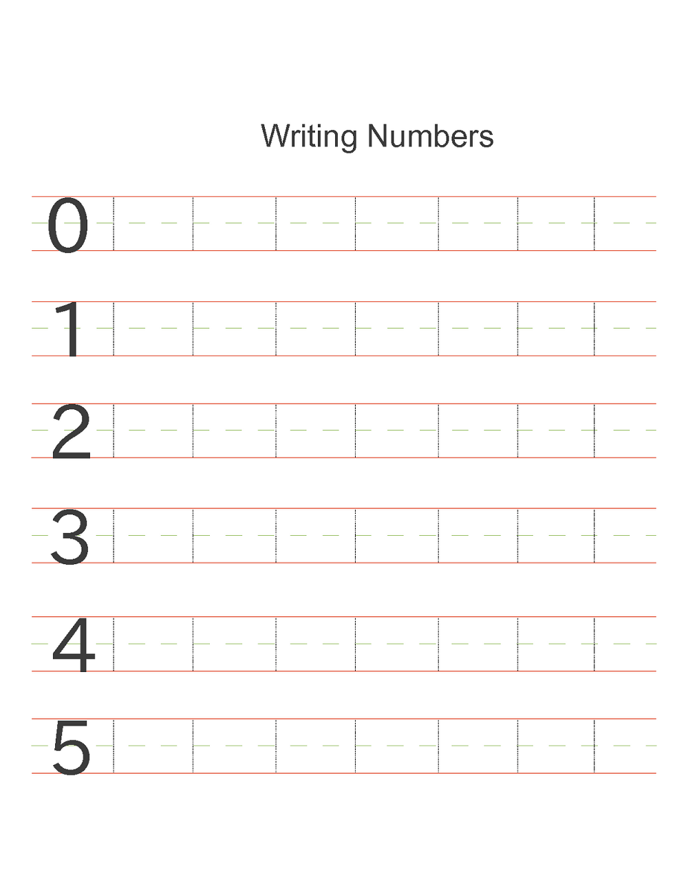 Printable Number Worksheets For Kindergarten