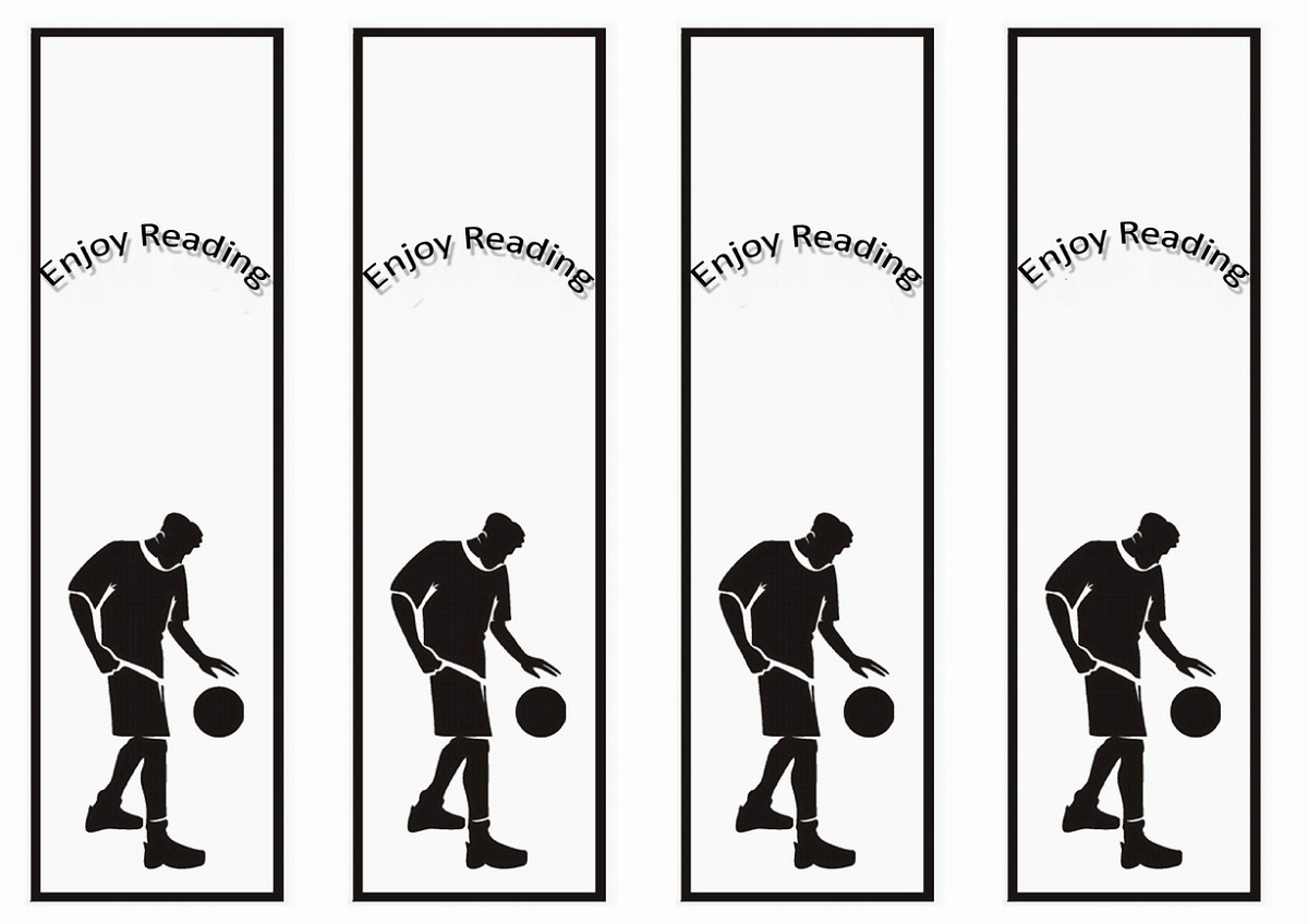 free printable reading bookmarks black and white basketball