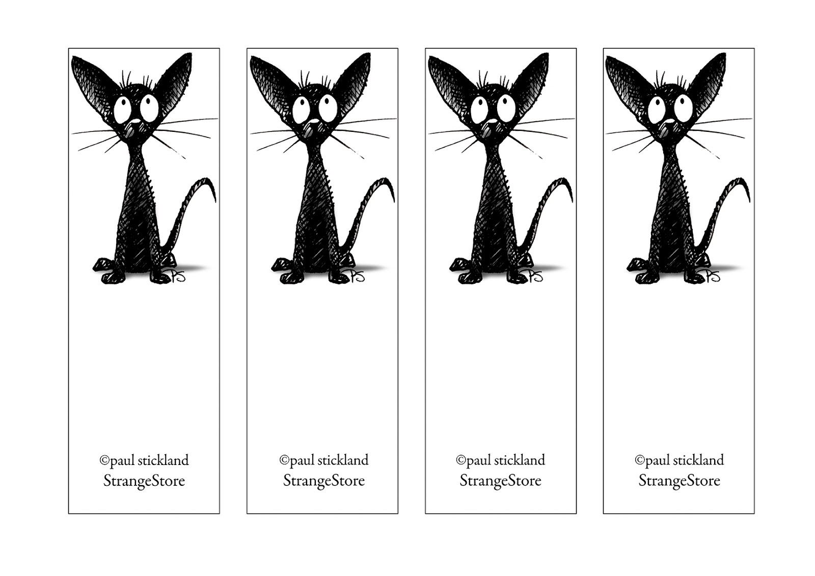 photograph regarding Cute Printable Bookmarks called Cost-free Printable Looking at Bookmarks Black and White Recreation