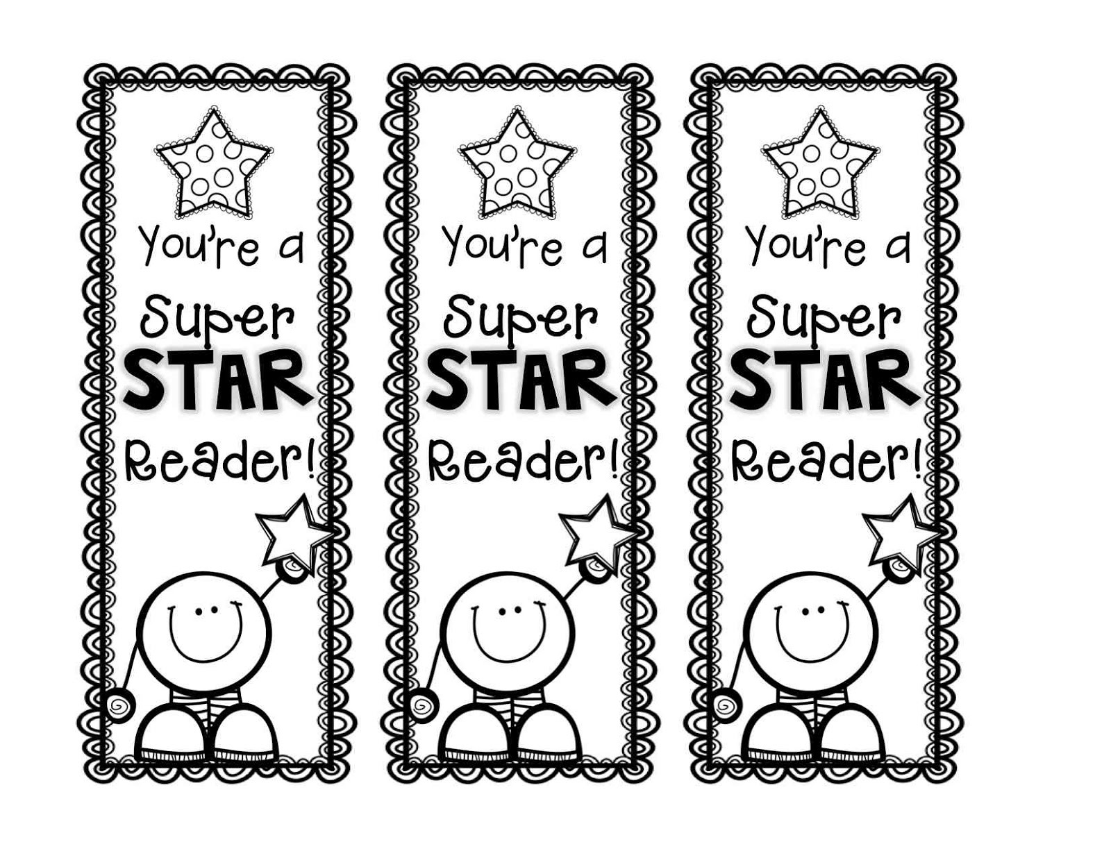Free Printable Reading Bookmarks Black and White | Activity ...