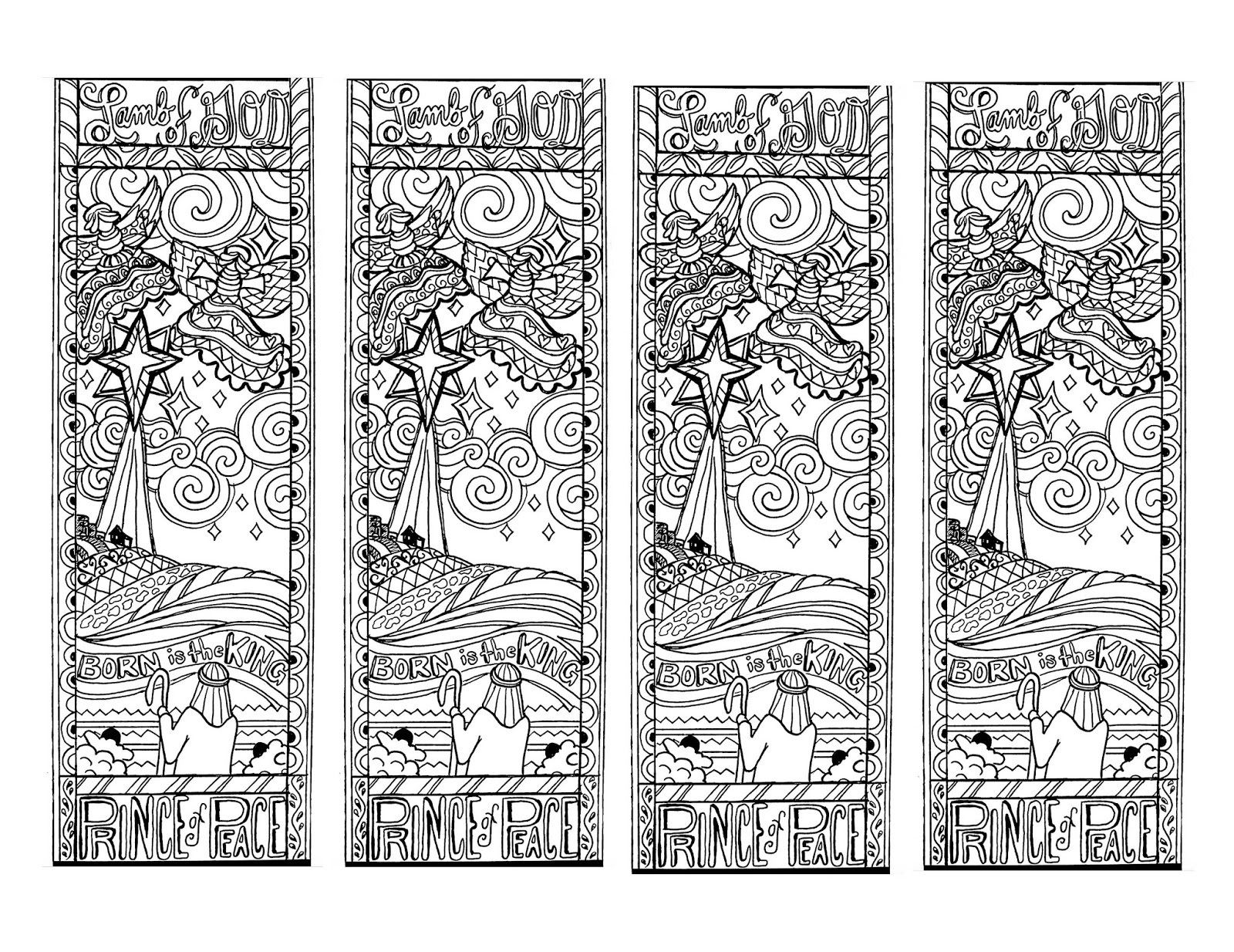 Wild image intended for printable bookmarks black and white