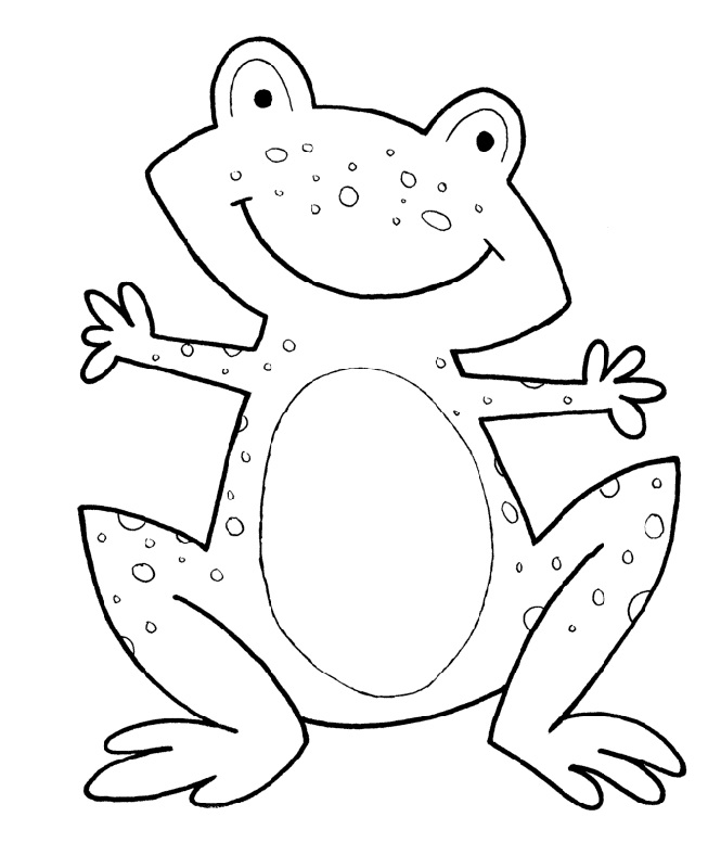 frog activities for kids coloring
