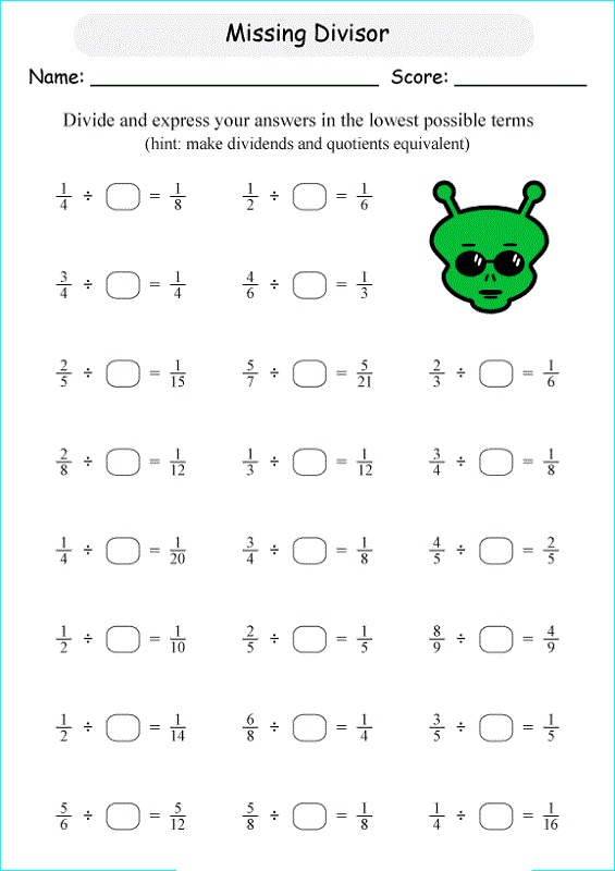 math worksheet for 5th grade