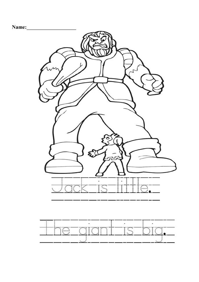 jack and the beanstalk activities 1st grade