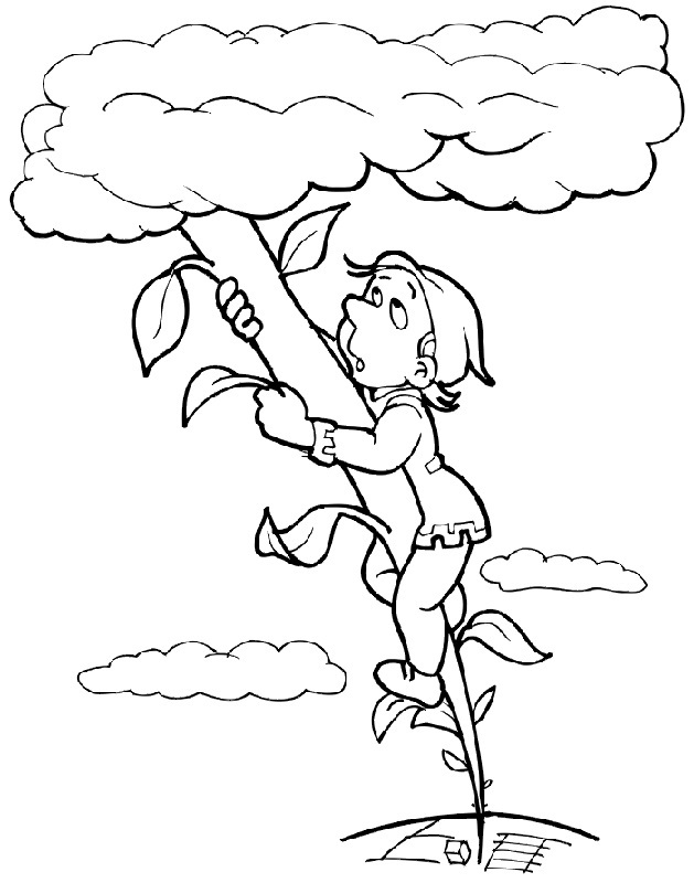 Jack and the beanstalk activities printable activity shelter for Jack and the beanstalk coloring page