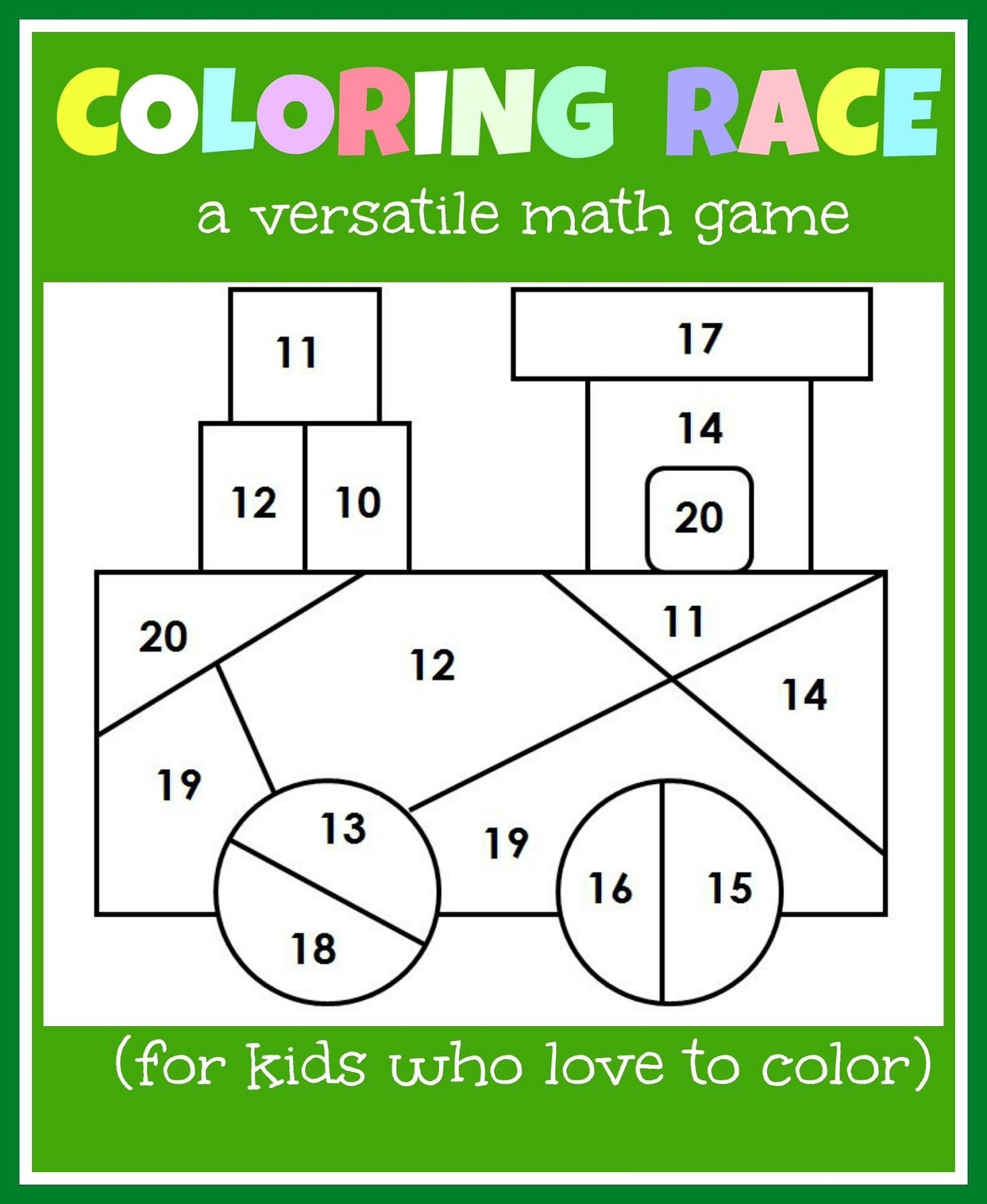 kids paper games color
