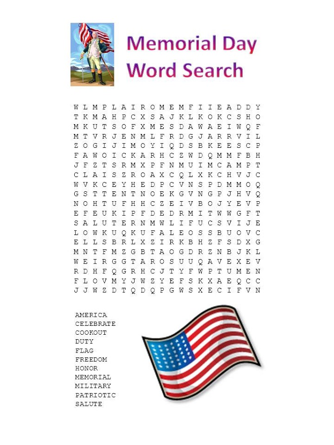 may word search america