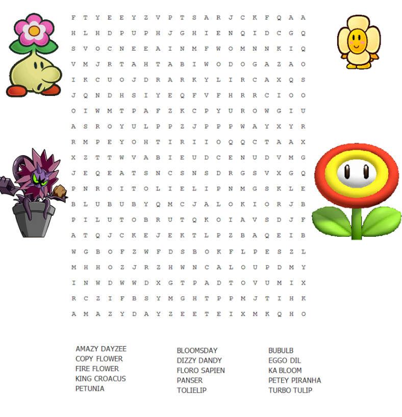 may word search printable