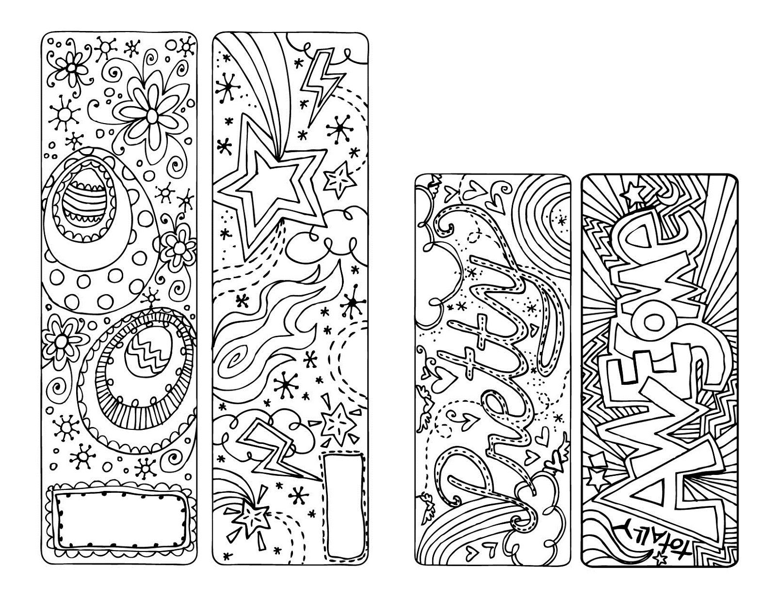 printable coloring reading bookmarks fun