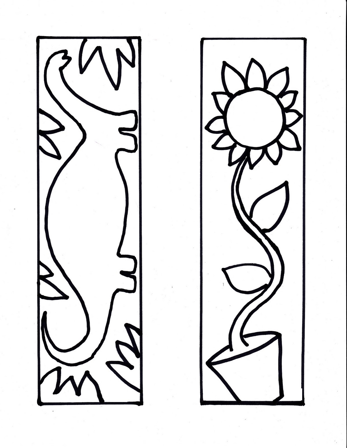 printable coloring reading bookmarks image