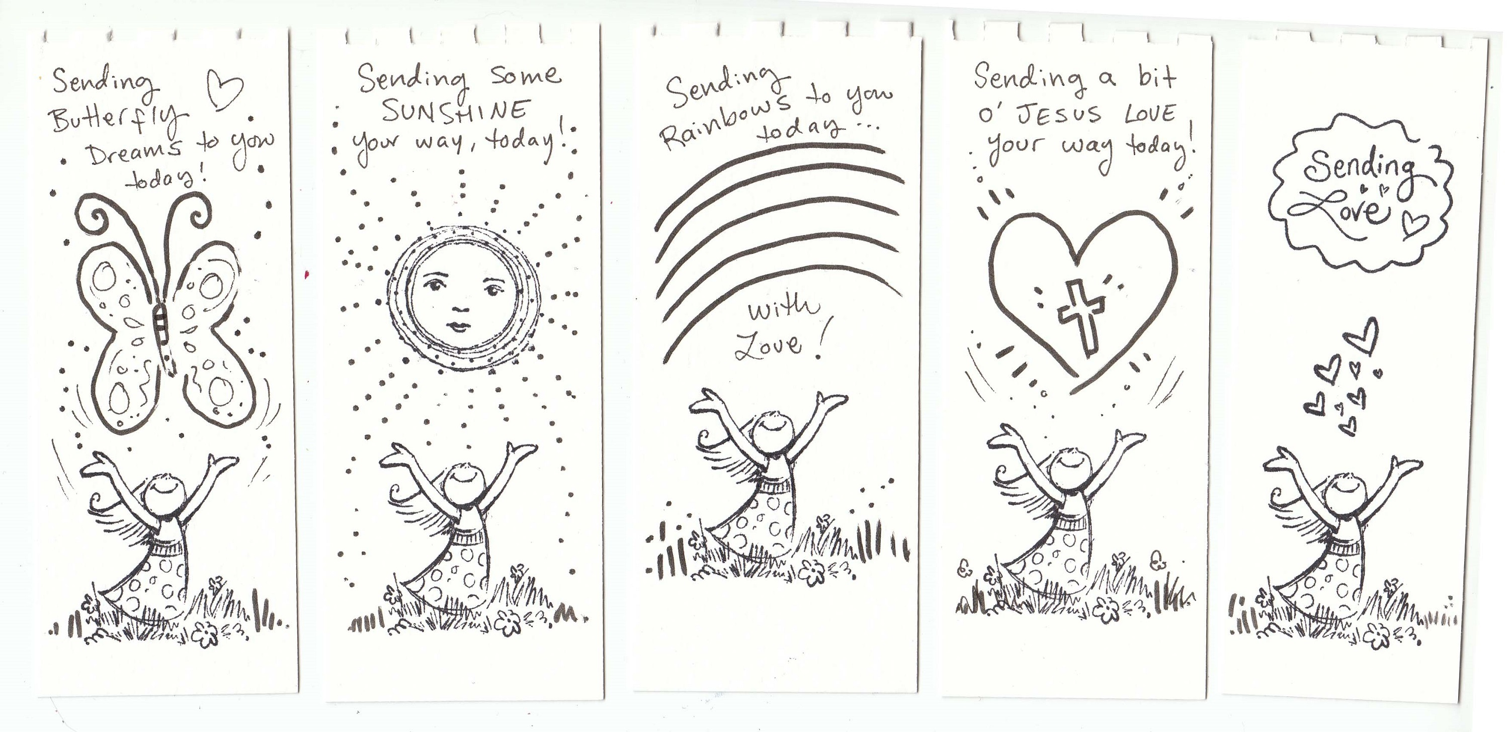 printable coloring reading bookmarks
