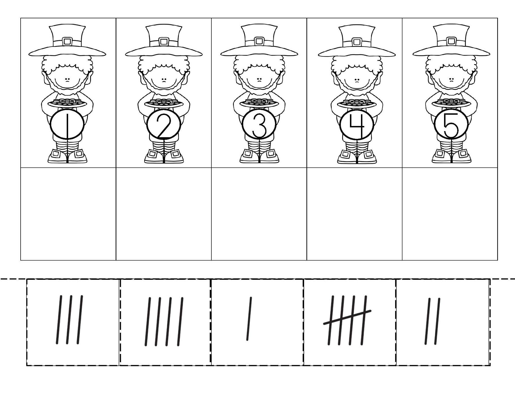 tally mark worksheet easy