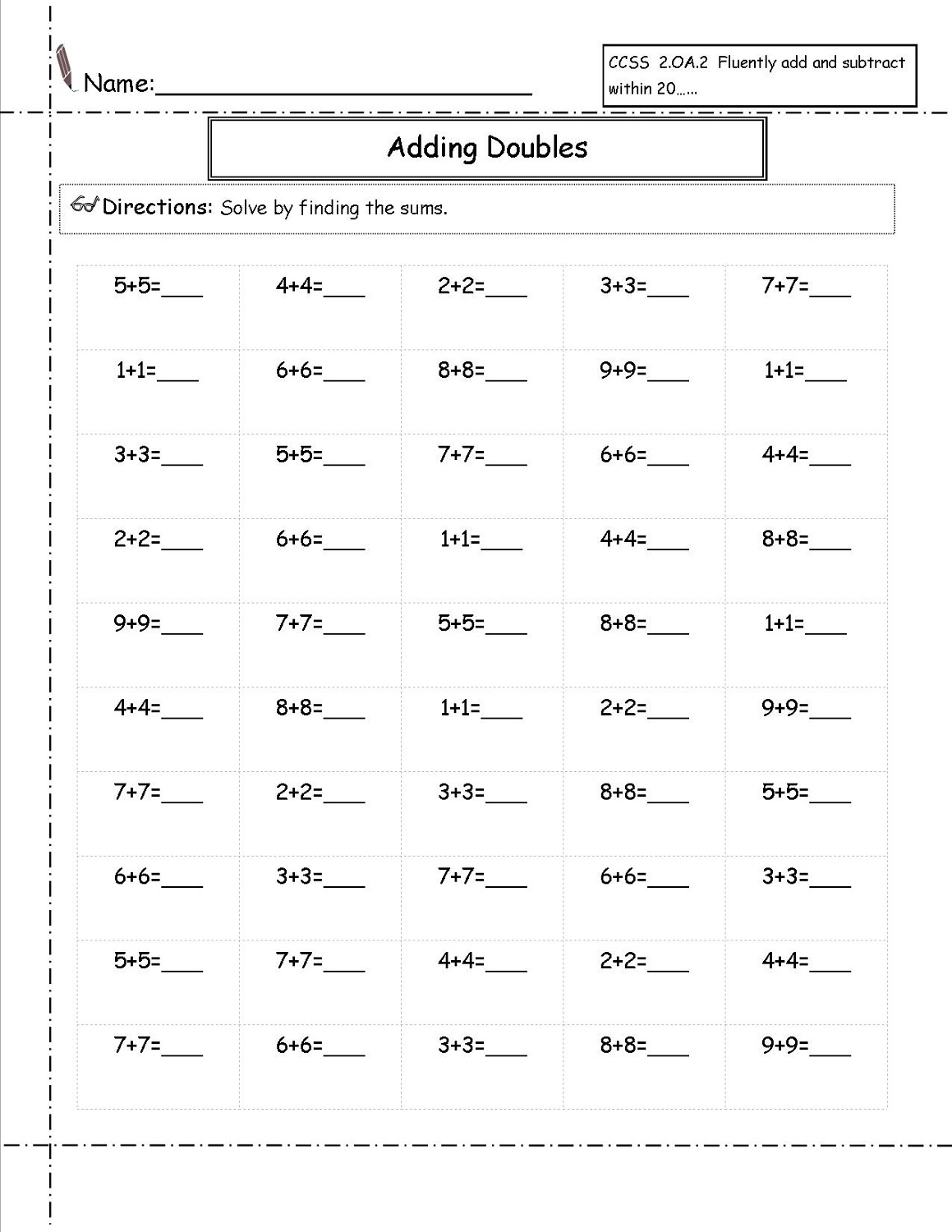 Free 2nd Grade Math Worksheets | Activity Shelter