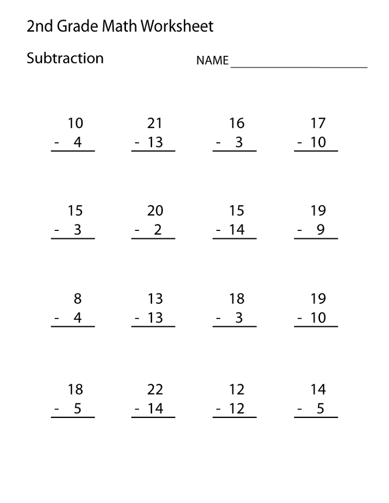 It is an image of Accomplished Free Printable Worksheets for 2nd Grade
