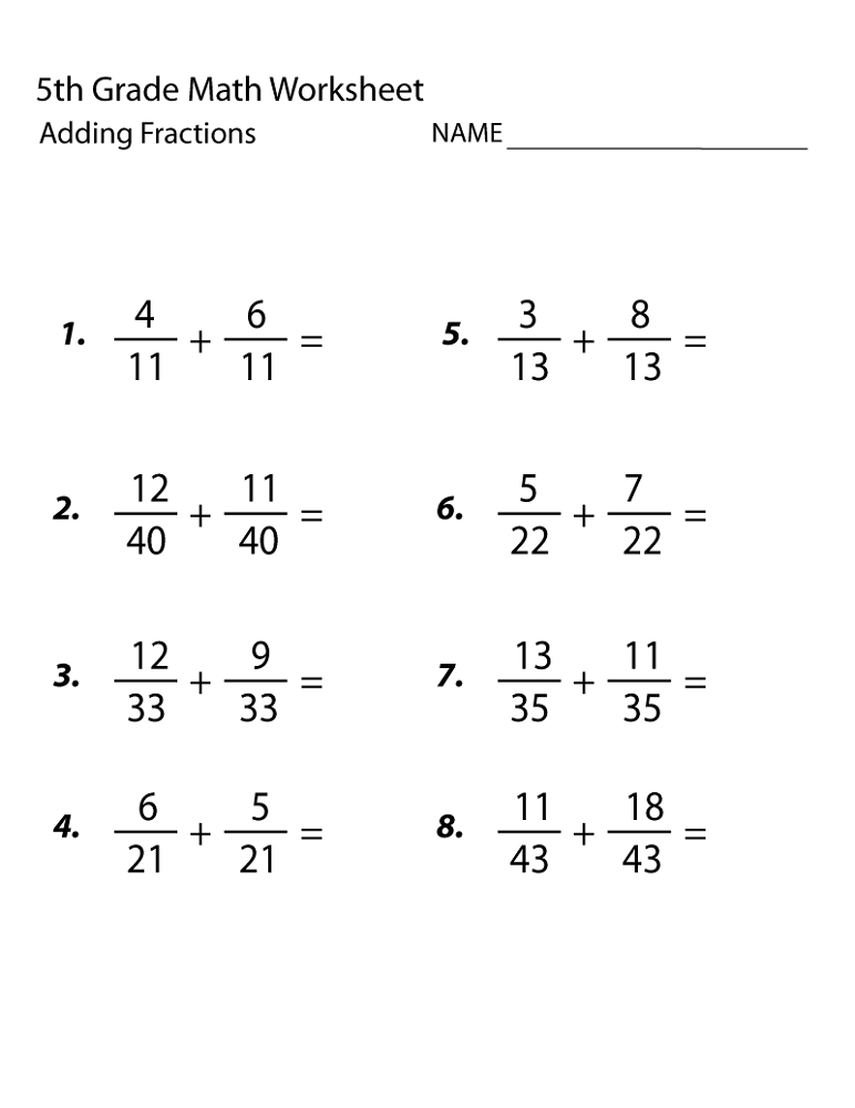 Free math worksheets 5th grade multiplication