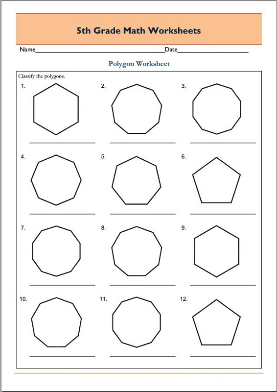 Grade 5 math worksheets pdf